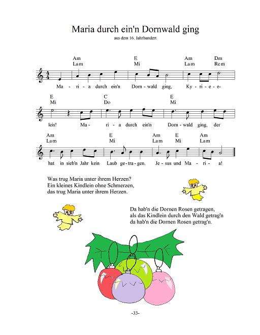 Texte Weihnachtslieder Zum Ausdrucken.Weihnachtslieder Noten Akkorde Texte Und Midi